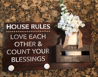 House Rules Pallet Wall Hanging