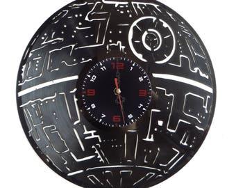 Vinyl Record Wall Clock, Star Wars, Death Star Handmade ,Home decor ,Darth Vader, Dark Side ,Star Wars Fans Gift, Art, Decor