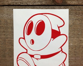 Super Mario Brothers Shy Guy Vinyl Decal
