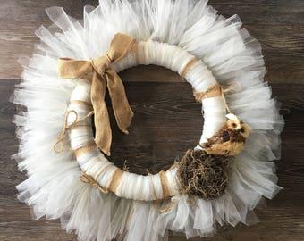 Rustic Owl Wreath