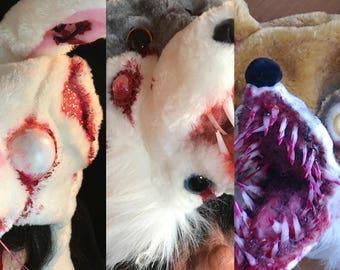 Custom made Monster Beanie OSFM