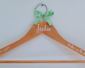 Personalised Wedding Hanger, Wedding Dress Hanger, Bridal Hanger, Bridesmaid Gift, Wedding Gift, Personalised Hanger, Bride Hanger