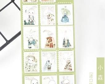 Cute Rabbits Forest Sticker/ Scrapbooking/ Planner/ Decroation/ Journal Sticker/ Diary Stickers