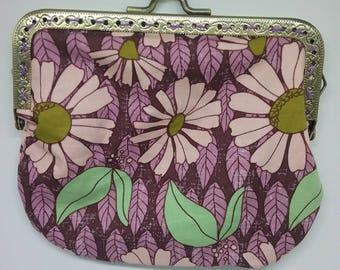 Purple daisies pouch