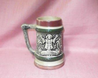 Bavarian beer stein/Munich/vintage/pottery/Germany