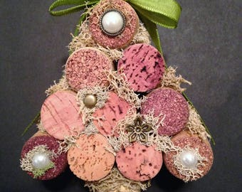 Wine Cork Christmas Tree Wall Hanging or Ornament