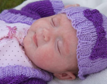 Hand Knitted baby Hat with Bow