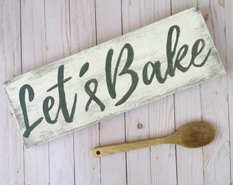 LET'S BAKE | wood sign