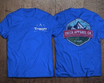Trech Apparel Co. T-Shirt / Royal Blue w/mountain design 1