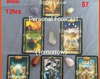 Your Personal Forecast (Tomorrow) Psychic Tarot Reading ; Genuine. !!NOT A computer-generated reading!!