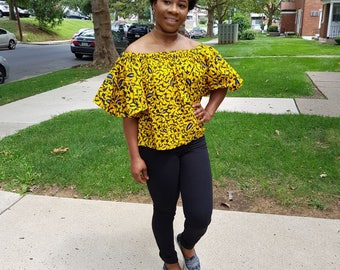 Ankara African off shoulder