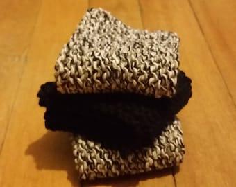 Knitted Overcast Twist Washcloths