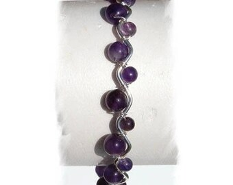 AMETHYST, natural stones bracelet