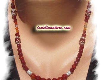 Carnelian necklace, 925 Silver