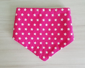 Drool bib Fuchsia with White Star