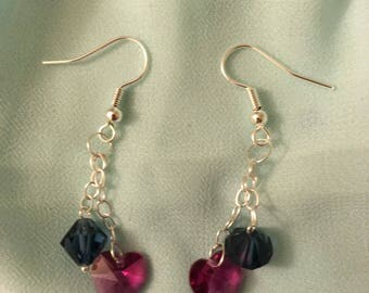 Sterling silver Swarovski Crystal Earrings.