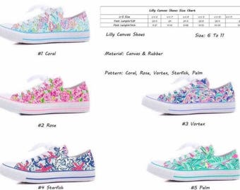 Lilly Inspired Printed Canvas Sneakers: Mid-August Ship Date
