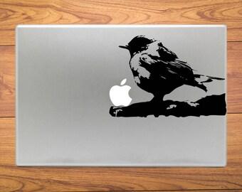 Bird on Tree Branch Macbook Decal Stickers Fits Mac Pro / Air / Retina Sizes 11 / 13 / 15 / 17 Laptop