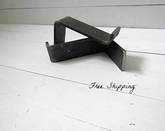 "Lip Shelf Brackets – Metal Shelf Brackets Heavy Duty for Farmhouse Shelves and Farmhouse Decor 2"" Wide"