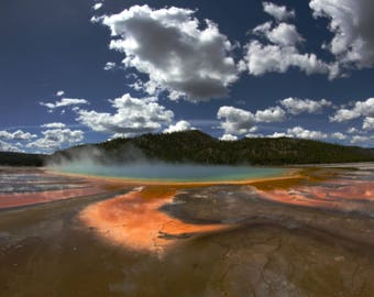 Grand Prismatic Spring - Yellowstone National Park 8x10 photo (matted)