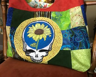 Grateful dead inspired....Life is good purse