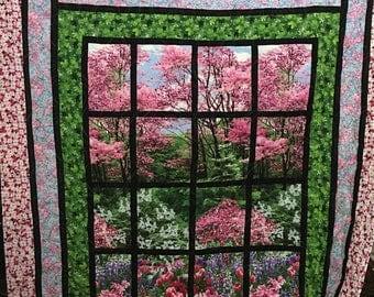 Spring window quilt