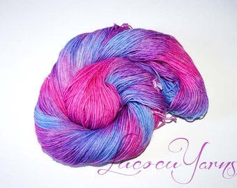"""Hand-dyed sock yarn 4 x 100 g """"Hydrangea"""""""