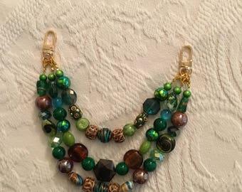 Green Rainbow Chain Charm