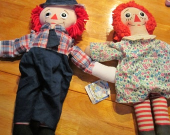 70th anniversary Raggedy Ann and Andy dolls