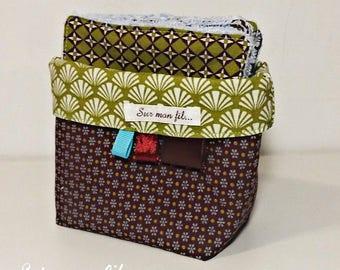 Basket + 10 wipes forest