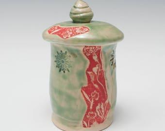 Ceramic Covered Jar