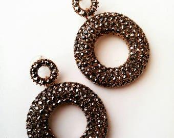 l Christmas gift l Hoop Earrings l Clystal Beads l jewelry