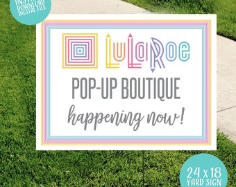 Pop Up Boutique Happening Now Outdoor Yard Sign 18 x 24 Digital File INSTANT DOWNLOAD