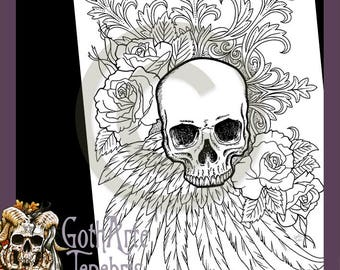 gothic print out coloring pages - photo#37