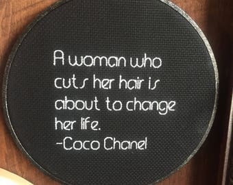 A woman who cuts her hair... --Coco Chanel