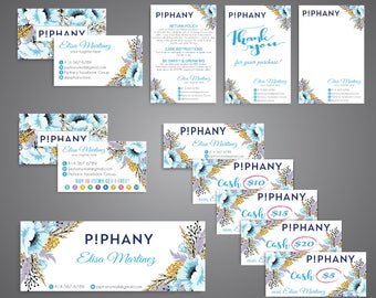Piphany Marketing Kit, Piphany Starter Bundle, Custom Piphany Package, PERSONALIZED Piphany Card, Printable Card - Digital file TP07