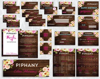 SALE!! Piphany Marketing Kit, Piphany Bundle, Custom Piphany Package, Piphany Cards, Wooden Cards, Watercolor Cards, Digital file PIPHANY