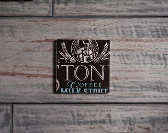 Stone Coffee Milk Stout Handmade Craft Beer Coaster