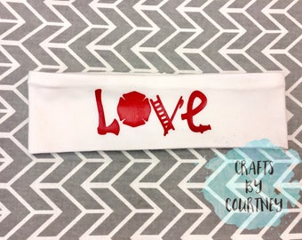 Firefighter LOVE Headband