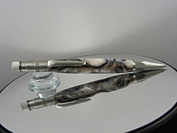 2mm Mechanical Pencil in Antique Pewter and Acrylic