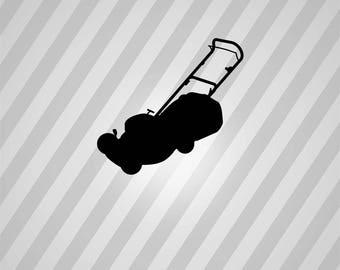 Lawn Mower Silhouette Mower - Svg Dxf Eps Silhouette Rld RDWorks Pdf Png AI Files Digital Cut Vector File Svg File Cricut Laser Cut