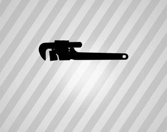 pipe wrench Silhouette - Svg Dxf Eps Silhouette Rld RDWorks Pdf Png AI Files Digital Cut Vector File Svg File Cricut Laser Cut