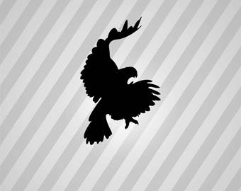 eagle flying Silhouette - Svg Dxf Eps Silhouette Rld RDWorks Pdf Png AI Files Digital Cut Vector File Svg File Cricut Laser Cut
