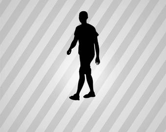 man walking Silhouette - Svg Dxf Eps Silhouette Rld RDWorks Pdf Png AI Files Digital Cut Vector File Svg File Cricut Laser Cut