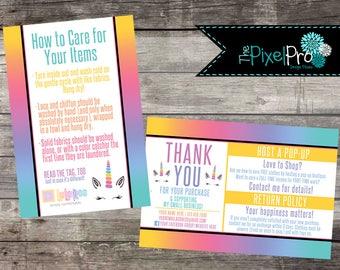 LulaRoe care card post cards, LulaRoe thank you cards, LulaRoe happiness policy with thank you, LulaRoe return policy with care instructions