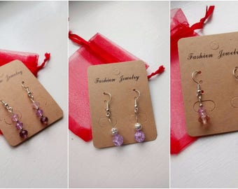Lilac drop earrings - set 1