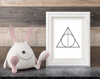 Deathly Hallows Harry Potter Digital Print | Perfect for Nursery, Office or Kid's playroom | New Shop SALE!