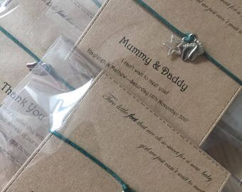 Personalised Baby Shower Favours, Gifts, Wish Bracelets, Thank You's