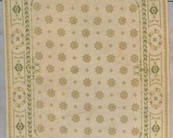 Vintage Portuguese Chainstitch Carpet Roomsize
