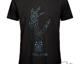 Skeleton hand t shirt